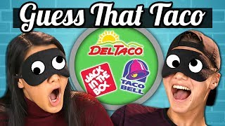 GUESS THAT TACO CHALLENGE!   TEENS vs. FOOD