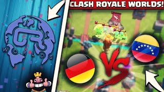 CLASH ROYALE WORLDS! | GERMANY vs VENEZUELA | DIE BESTEN PRO PLAYER DES LANDES! | Clash Royale GER