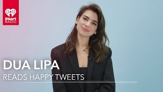 Dua Lipa Reads Fan Tweets! | Happy Tweets