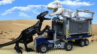 Jurassic World in LEGO 🔴 Indoraptor vs Indominus Rex- 2 🦖