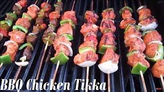 How to Make BBQ Chicken Tikka (English) - Summer Recipe- Pakistani/Indian Cooking with Atiya