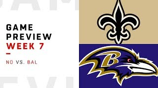 New Orleans Saints vs. Baltimore Ravens | Week 7 Game Preview | Move the Sticks