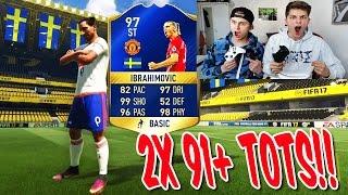 OMG! 2x 91+ PREMIER LEAGUE TOTS mit BRUDER! ⛔️🔥😎 BEST PACK OPENING - FIFA 17 ULTIMATE TEAM (DEUTSCH)