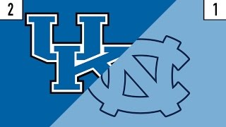 2 Kentucky vs. 1 North Carolina Prediction | Who