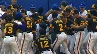 Tempers flare, benches clear in Atlanta