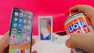 Experiment - Kann man ein iPhone X mit Eis Spray Schockfrieren?