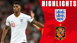 England 1-2 Spain    Last-minute Equaliser Controversially Ruled Out   Official Highlights