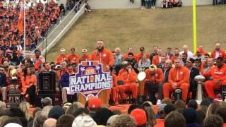 Ben Boulware delivers emotional speech at Clemson