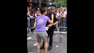 NYPD gets down during NYC pride
