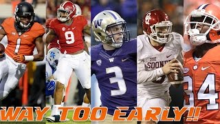 A Way-Too-Early Top 10 2017-18 College Football Rankings