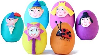 BEN AND HOLLYs Little Kingdom Surprise Eggs Play Doh Eggs Opening