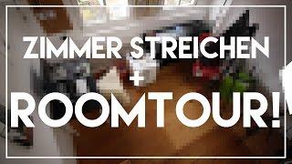 Zimmer streichen + Mini ROOMTOUR!
