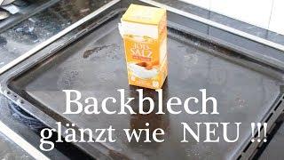Backblech glänzt wie NEU ! mit Wundermittel Salz ! - Baking Sheet shines like NEW! With miracle salt