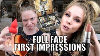 FULL FACE FIRST IMPRESSIONS! TESTING NEW MAKEUP!