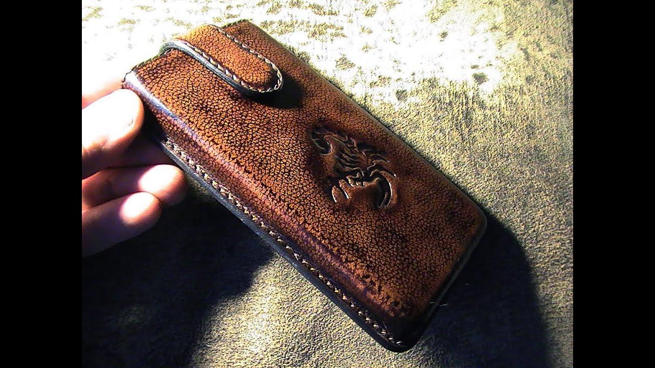 Чехол кожаный для телефона своими руками