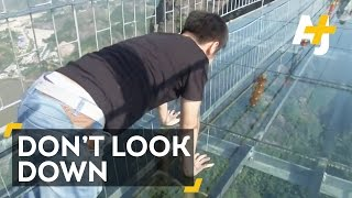 Terrifying Glass Bridge In China