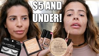FULL FACE NOTHING OVER $5   Drugstore Makeup Tutorial