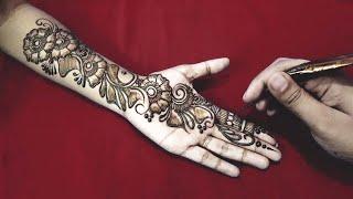 Front Hand Henna Mehndi Design : Latest arabic mehndi designs for full handssimple henna