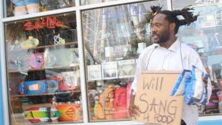 Homeless man sings John Legend
