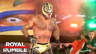 Rey Mysterio makes a shocking return in the Royal Rumble Match: Royal Rumble 2018 (WWE Network)