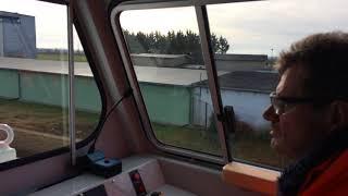 Die MZ war bei der Fahrt mit einer neuen Diesellok in Bernburg dabei