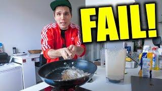 Ich backe Pfannkuchen OHNE Eier & Milch