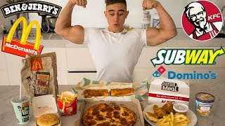 EVERY FAST FOOD CHALLENGE   Epic Cheat Meal