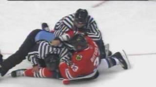 Keith Tkachuk vs Dustin Byfuglien Nov 14, 2008