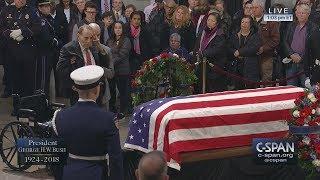 Sen. Bob Dole salutes President George H.W. Bush (C-SPAN)