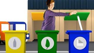 Lehrreicher Zeichentrickfilm - Die 4 kleinen Autos - Maria hilft uns beim Recycling