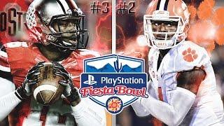 #3 Ohio State vs #2 Clemson   2016 Playstation Fiesta Bowl    NCAA Football Simulation