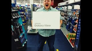 18.4 inch Samsung Galaxy View Tablet Unboxing