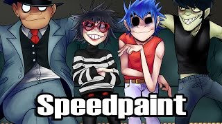 Phase 4 - Gorillaz Speedpaint Collab with Bebbermin Pocky!!