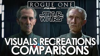 Rogue One and Star Wars Original Trilogy - visuals recreations comparisons