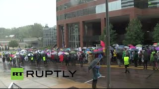 LIVE: Ferguson protests continue after killing of African American teen