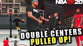 Double Center Line Ups Are Back! Dunking Showtime Oops! NBA 2K20 Park Gameplay