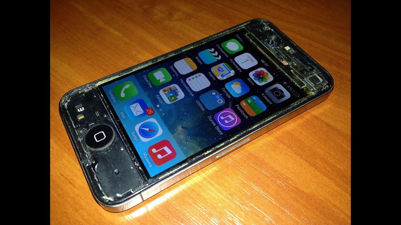 Замена стекла iphone 4s своими руками