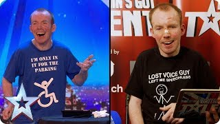 Lost Voice Guy reacts to his Audition | Britain