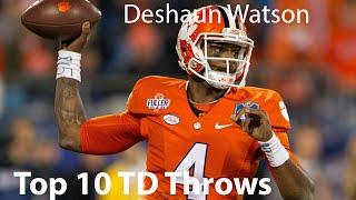 Deshaun Watson Top 10 TD Throws