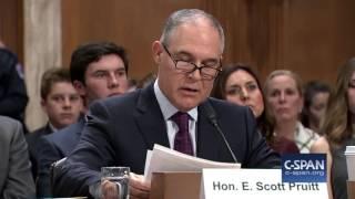 EPA Administrator Nominee Scott Pruitt Opening Statement (C-SPAN)