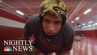 Inspiring America: From Homeless To College Heavyweight Wrestler | NBC Nightly News