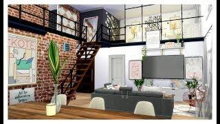 The Sims 4 | Apartment Build: Aesthetic RoseGold Loft Apartment | W/CC LINKS