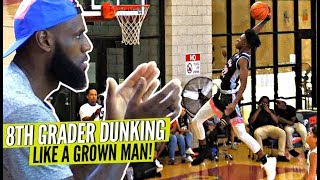8th Grader Dunking Like a GROWN MAN!!! Even LeBron Was Impressed by Rayvon Griffith!!