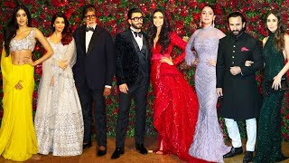 Bollwyood Stars At Deepika Padukone & Ranveer Singh