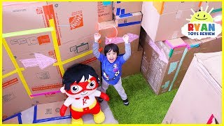 Giant Box Fort Maze Challenge!!!