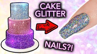 """Putting CAKE GLITTER on NAILS? (+ """"edible"""" Diamond Cappuccino EXPOSED)"""