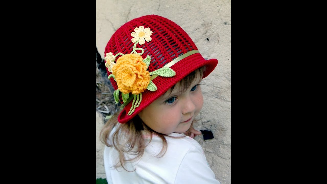 Шляпка для девочки своими руками связать