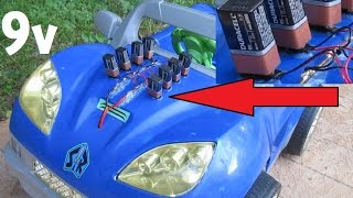 Power Wheels Mod (9 volt batteries? how many?)