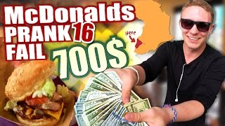 McDonalds PRANK FAIL - 700$ BURGER? - McDonalds Roulette
