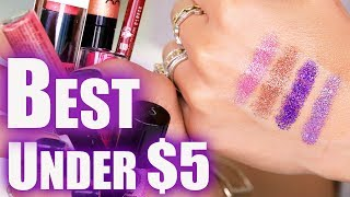 FIVE UNDER $5 BUCKS | Best Drugstore Makeup